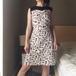 Vintage Dice Books Pens Vegas Lucky Dress Dress